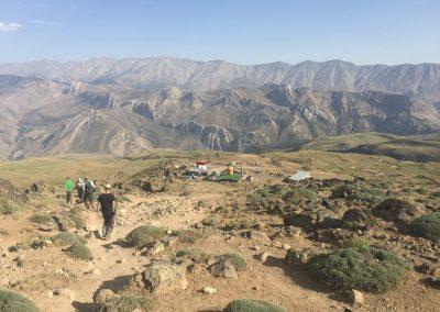 aklimatizációs túra után, visszaérkezés a táborba