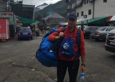 felpakoltam az előttem álló hegymászásra, a csomag súlya kb 40 kg