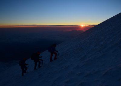 pico de orizaba csúcsmászás kb 5300 méteren járunk
